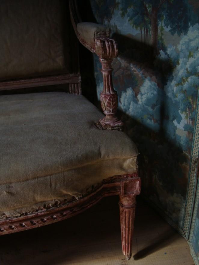 Canapé d'époque Louis XVI